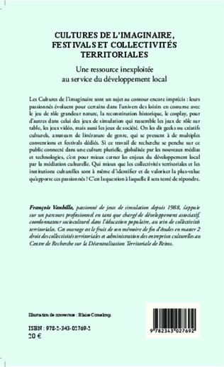 4eme Cultures de l'imaginaire, festivals et collectivités territoriales