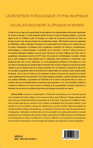 4eme La réception théologique et philosophique de l'Islam en Europe à l'époque moderne