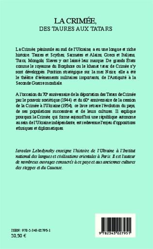 4eme La Crimée, des Taures aux Tatars