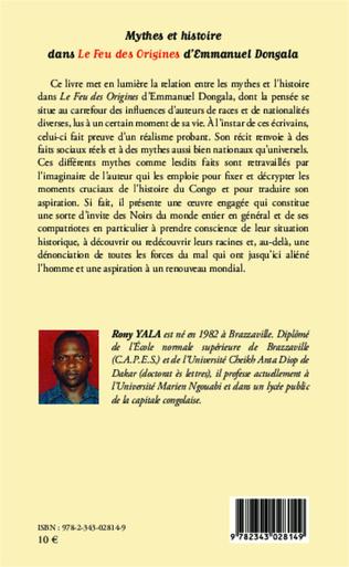 4eme Mythes et histoire dans Le Feu des Origines d'Emmanuel Dongala