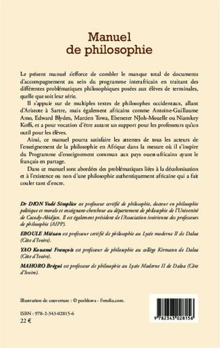 4eme Manuel de philosophie