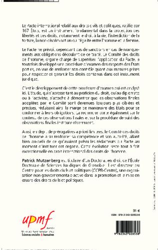 4eme Agir pour la mise en oeuvre des droits civils et politiques