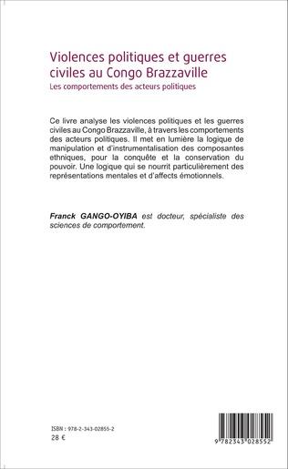 4eme Violences politiques et guerres civiles au Congo Brazzaville
