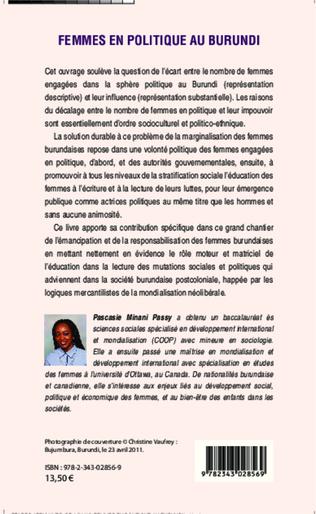 4eme Femmes en politique au Burundi