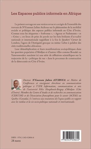 4eme Les Espaces publics informels en Afrique