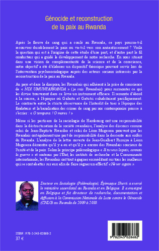 4eme Génocide et reconstruction de la paix au Rwanda