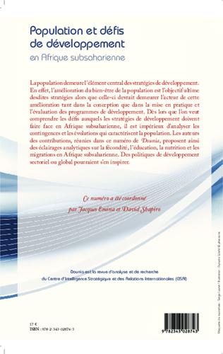4eme Population et défis de développement en Afrique subsaharienne
