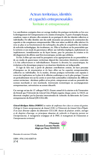 4eme Acteurs territoriaux, identités et capacités entrepreneuriales