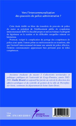 4eme Vers l'intercommunalisation des pouvoirs de police administrative ?