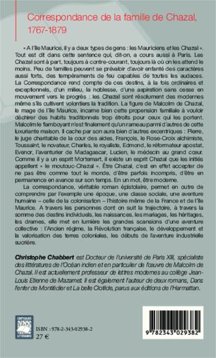 4eme Correspondance de la famille de Chazal, 1767-1879