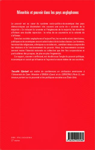 4eme Minorités et pouvoir dans les pays anglophones