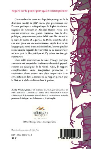 4eme Regard sur la poésie portugaise contemporaine