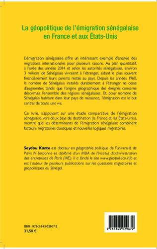 4eme La géopolitique de l'émigration sénégalaise en France et aux Etat-Unis