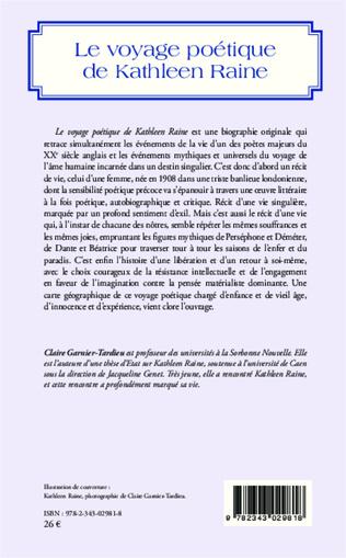 4eme Le voyage poétique de Kathleen Raine