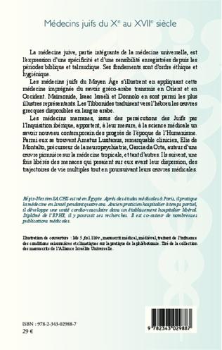4eme Médecins juifs du Xe au XVIIe siècle
