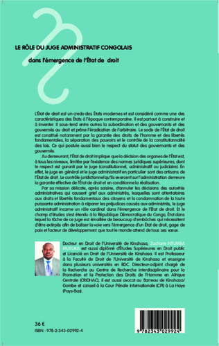 4eme Le rôle du juge administratif congolais dans l'émergence de l'Etat de droit