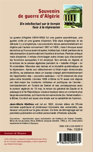4eme Souvenirs de guerre d'Algérie