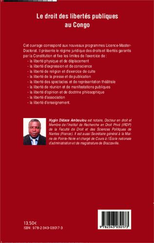 4eme Le droit des libertés publiques au Congo