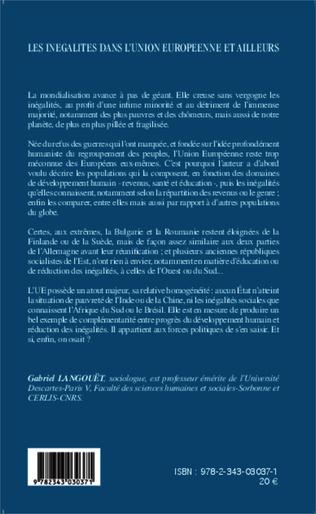 4eme Les inégalités dans l'Union Européenne et ailleurs