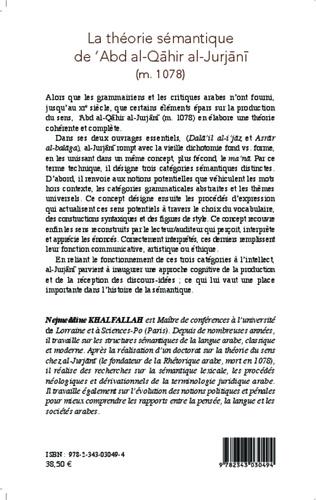 4eme La théorie sémantique de 'Abd al-Qahir al-Jurjani (m. 471/1078)