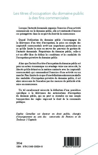 4eme Les titres d'occupation du domaine public à des fins commerciales
