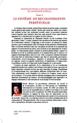 4eme Manifeste pour la décolonisation de l'humanité femelle (Tome 3)