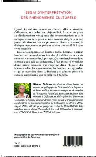 4eme Essai d'interprétation des phénomènes culturels