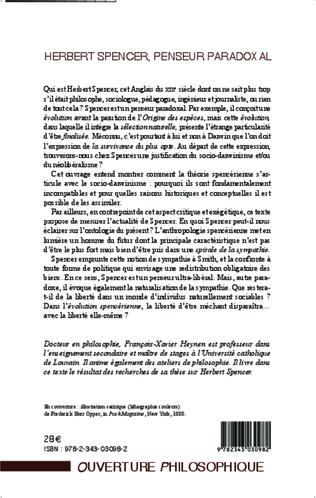 4eme Herbert Spencer, penseur paradoxal