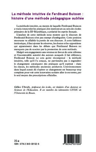 4eme La méthode intuitive de Ferdinand Buisson :