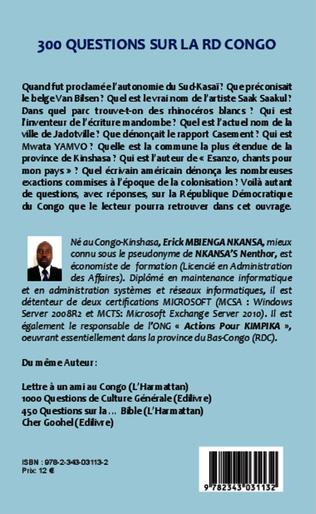 4eme 300 questions sur la RD Congo