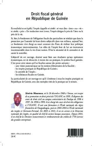 4eme Droit fiscal général en République de Guinée