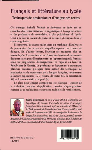 4eme Français et littérature au lycée