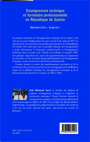 4eme Enseignement technique et formation professionnelle en République de Guinée