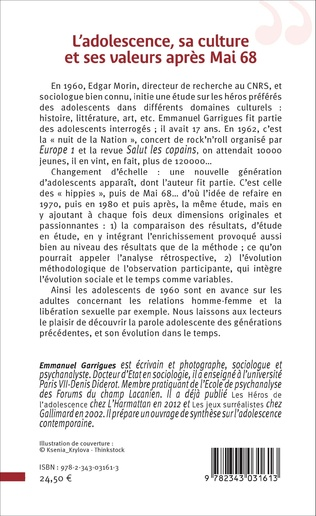 4eme L'adolescence, sa culture et ses valeurs après 1968