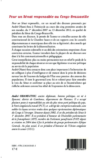 4eme Pour un Sénat responsable au Congo-Brazzaville