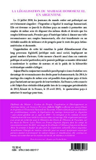 4eme La legalisation du mariage homosexuel en Argentine