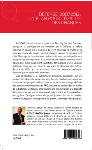 4eme Défense, 2007-2012 : un plan pour l'égalité des chances