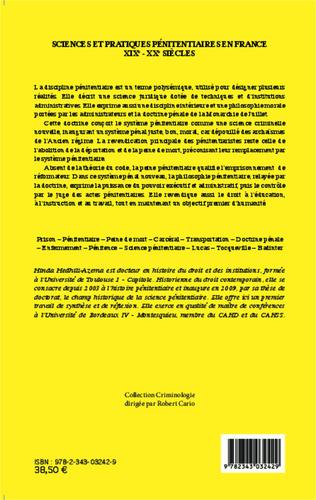 4eme Sciences et pratiques pénitentiaires en France XIXe - XXe siècles