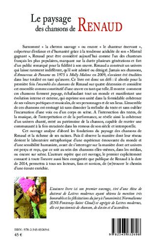 4eme Le paysage des chansons de Renaud