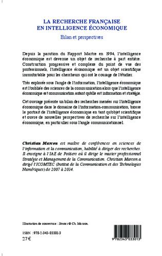 4eme La recherche française en intelligence économique