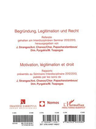 4eme Motivation, légitimation et droit (Tome 6A)