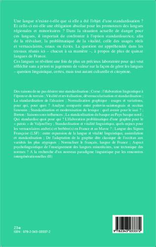 4eme Standardisation et vitalité des langues de France