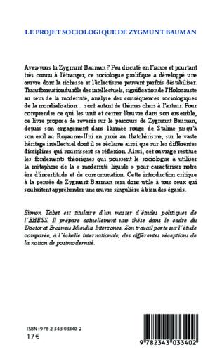 4eme Le projet sociologique de Zygmunt Bauman