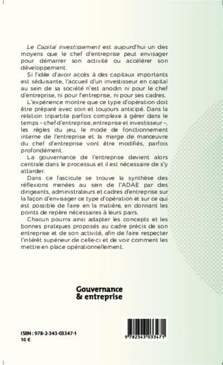4eme Gouvernance et investisseur en capital