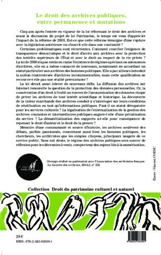 4eme Le droit des archives publiques, entre permanence et mutations