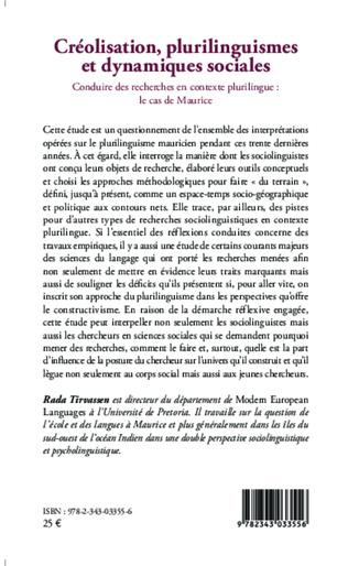 4eme Créolisation, plurilinguismes et dynamiques sociales