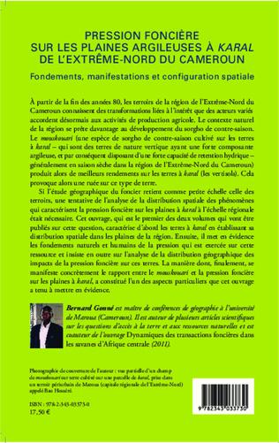 4eme Pression foncière sur les plaines argileuses à Karal de l'Extrême-Nord du Cameroun