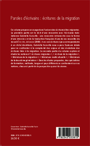 4eme Paroles d'écrivains : écritures de la migration