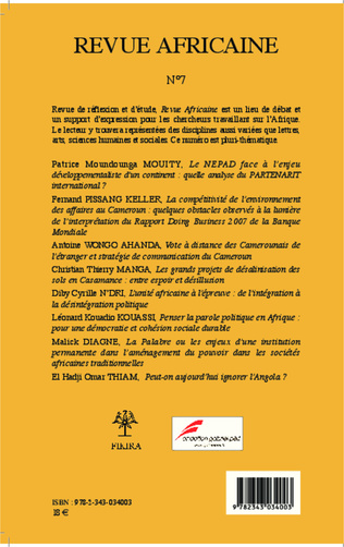 4eme Revue Africaine