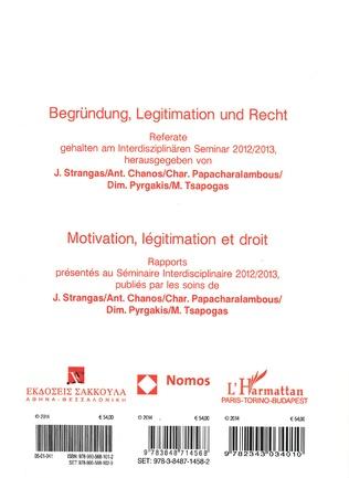 4eme Motivation, légitimation et droit (Tome 6B)